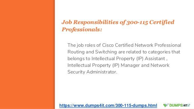 Buy 300-115 Cisco CCNP Routing and Switching Exam Study Material And …