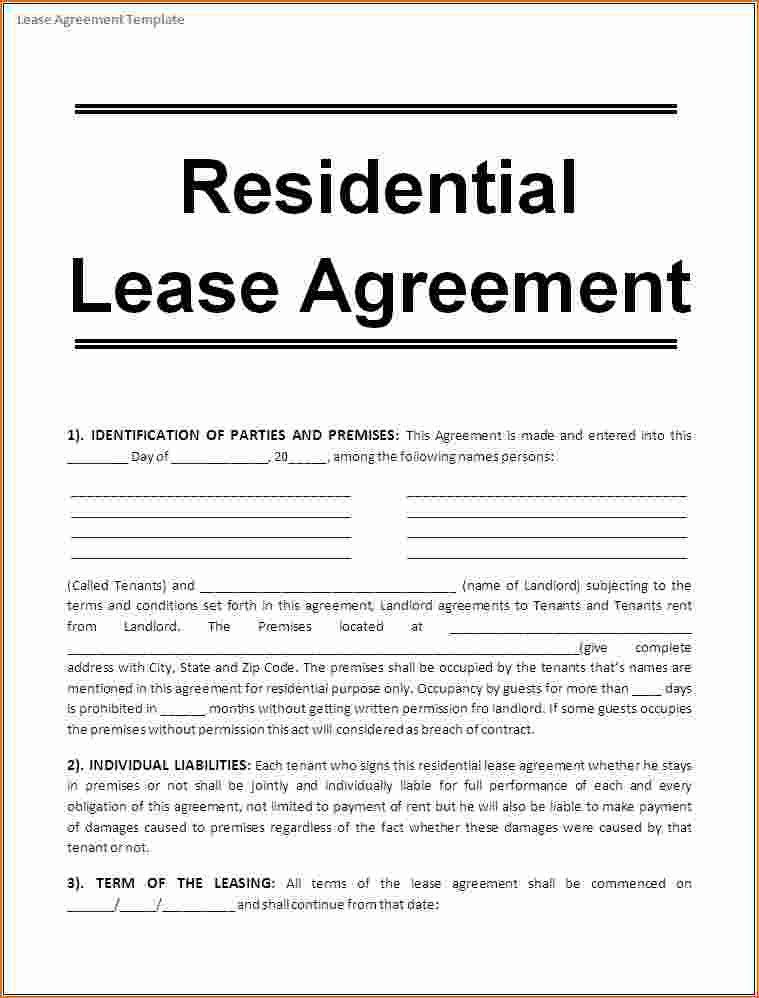 6+ Rental Lease Agreement Template | Printable Receipt