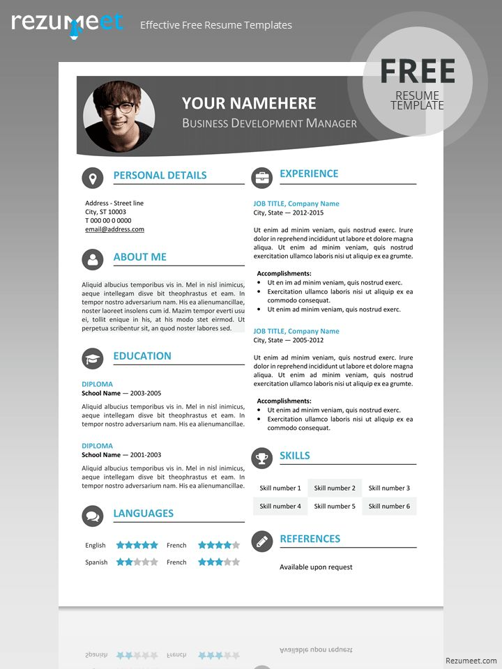 Smart Design Modern Resume Template 13 Templates 64 Examples - CV ...