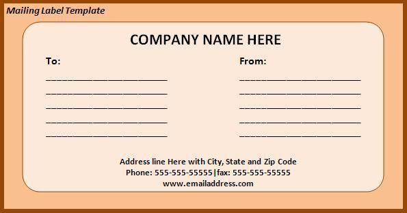 Mailing Label Template - Best Word Templates