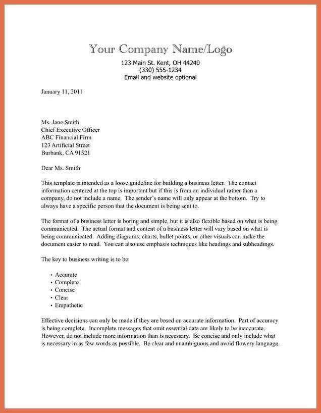 Formal Business Letter Example. Formal Business Thank You Letter ...