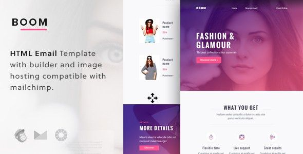 Boom - Responsive Email Template + Mailchimp Editor & Builder by ...