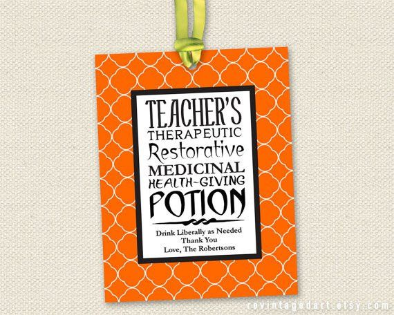 Printable Teacher Coffee Gift Tags for Halloween. (Or for any ...