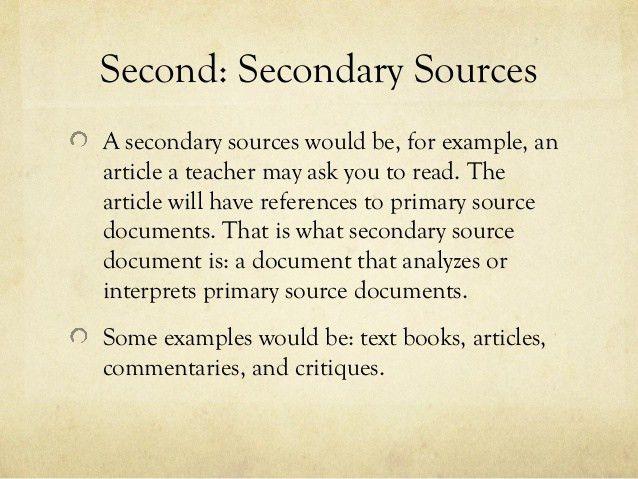 Primary vs Secondary Resources