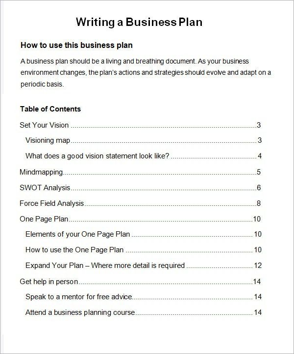 Business Plans Samples. Free Business Plan Sample Bussines Plan ...