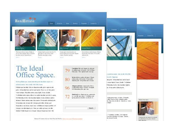 Website templates for real estate businesses or showcasing your ...