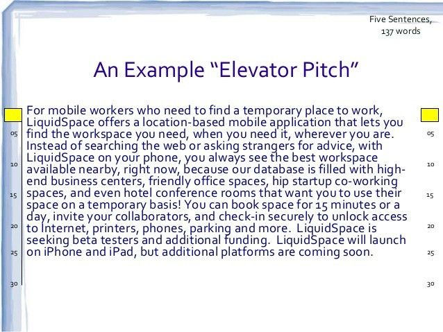 Elevator Pitch Example Sample Elevator Pitch Example 10 Documents – Elevator Pitch Example