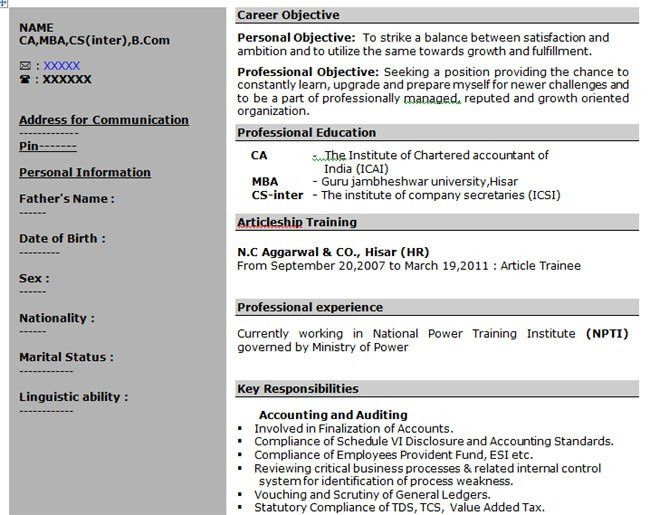 what is the format for a resume resume format doc file download ...