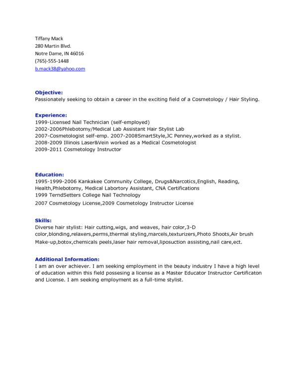 choose. sample hair stylist resume 7 free documents in pdf word ...