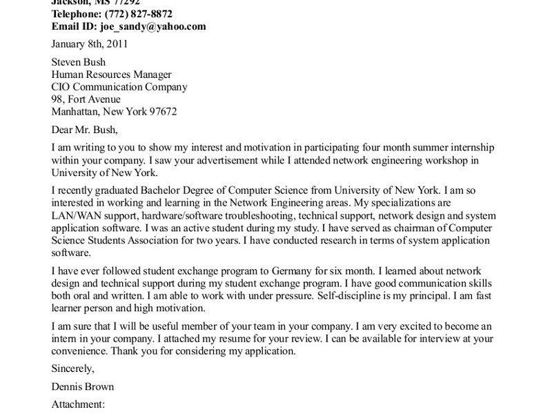 Glamorous Engineering Internship Cover Letter 1 Samples For Jobs ...