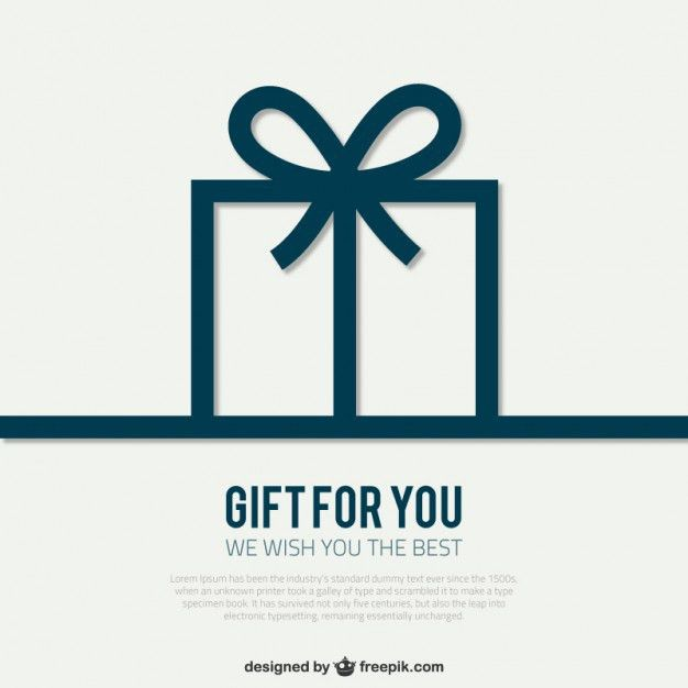 Card template with gift box Vector | Free Download