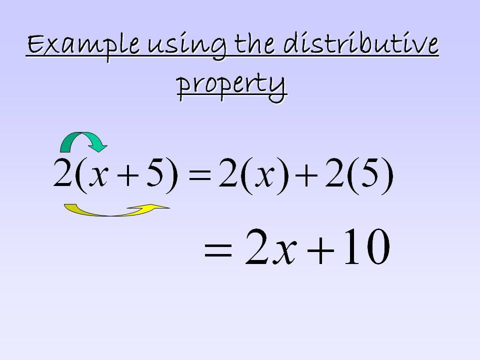 The Distributive Property You will be able to use the distributive ...