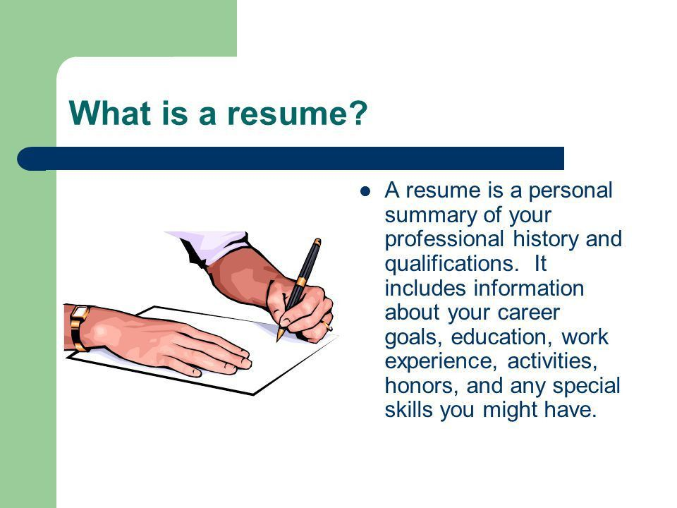 Resume and Cover Letter Workshop A presentation brought to you by ...