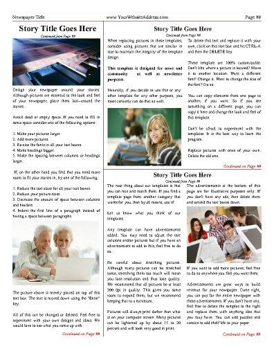 Free Newsletter Templates - Print and Digital   Makemynewspaper.com