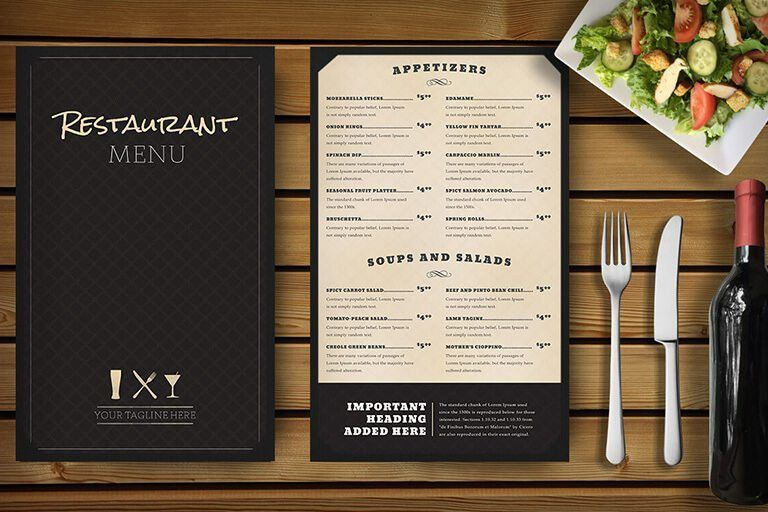 30 Food & Drink Menu Templates   Design Shack