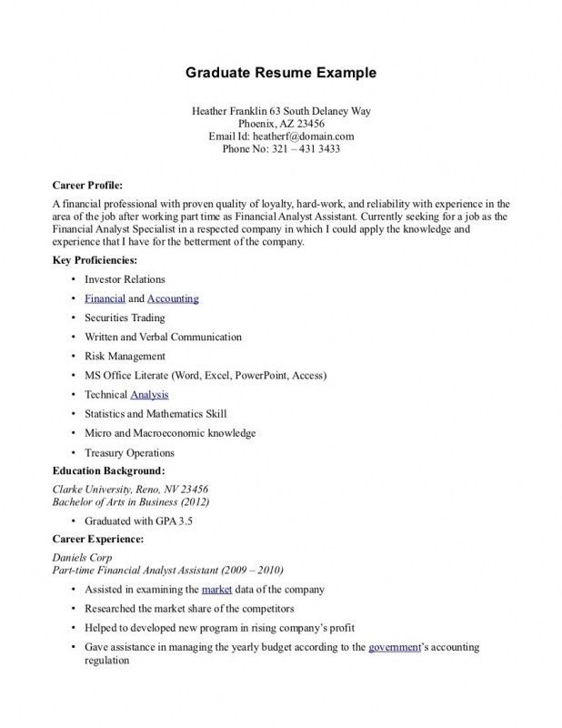Resume Objective For Part Time Job | Samples Of Resumes