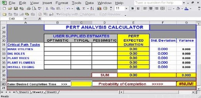 Download Free Excel Pert Chart Templates for Project Management ...