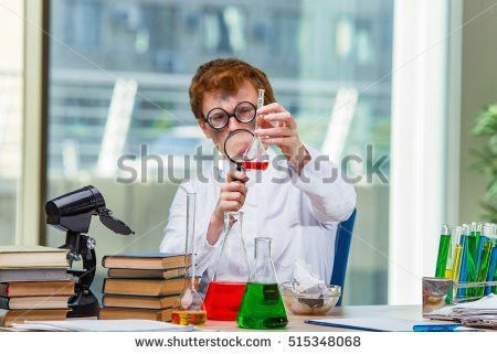 Young Crazy Chemist Working Lab Stock Photo 515347603 - Shutterstock