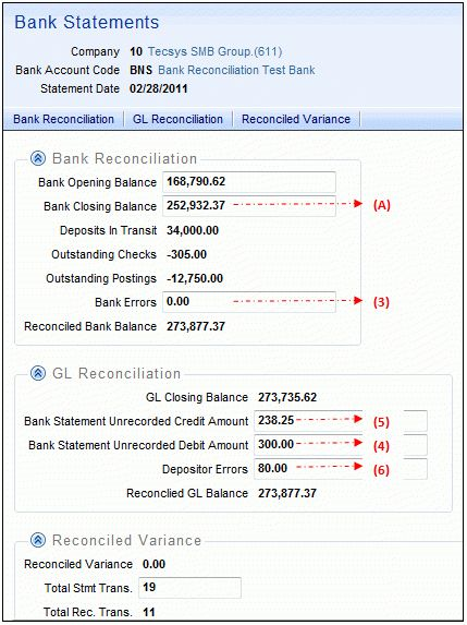 Bank Reconciliation - Overview