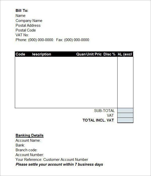 Proforma Invoice Templates – PDF Word Excel – Get Calendar Templates