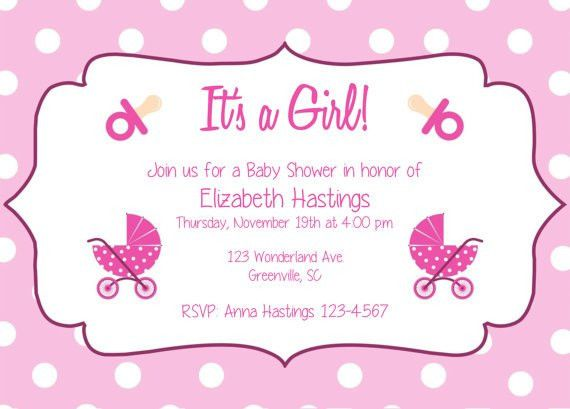 Pink Baby Shower Invitation Templates | Invitation Ideas