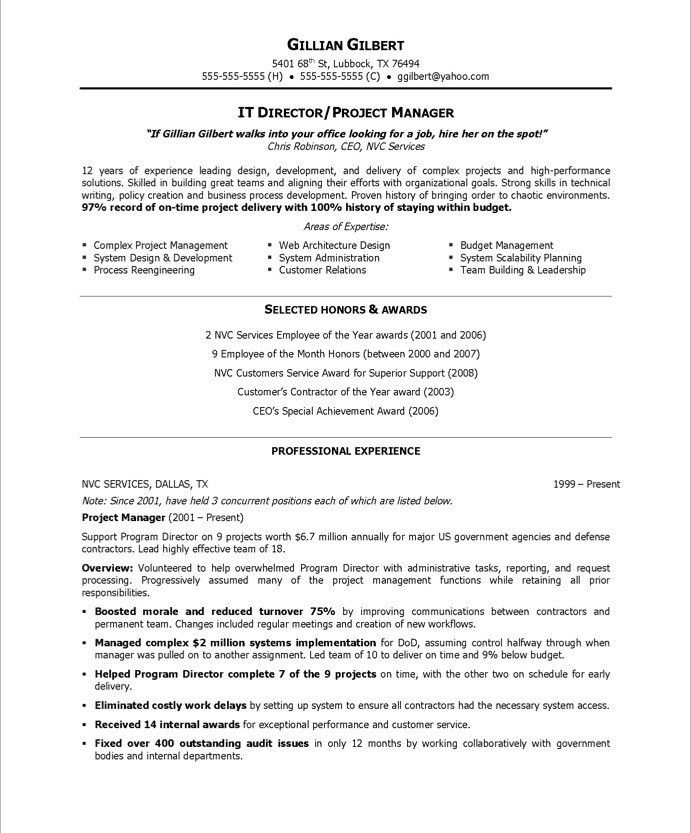 Download It Director Resume | haadyaooverbayresort.com