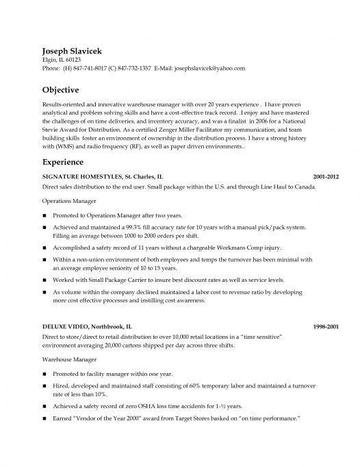 Forklift Operator Job Description For Resume