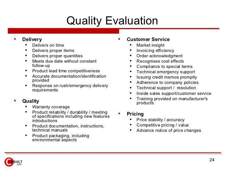 Supplier Evaluation Form. Supplier Evaluation Vendor Quality ...