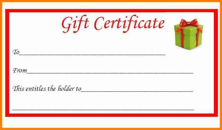 8+ free printable gift certificates | budget template