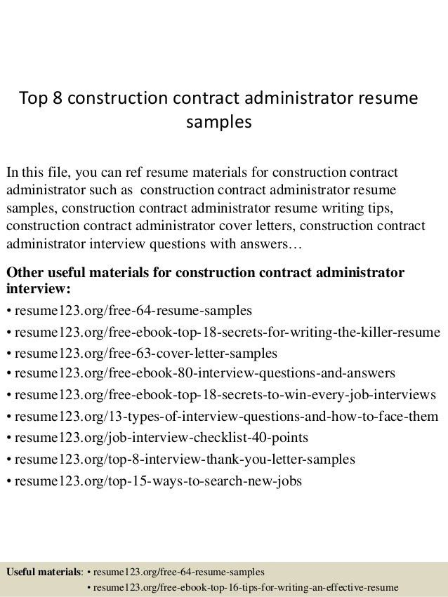 top-8-construction-contract-administrator-resume -samples-1-638.jpg?cb=1432520721