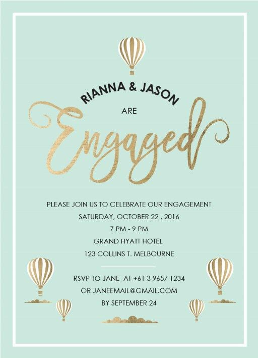 Engagement Party Invitations | Independent Designs - Paperlust