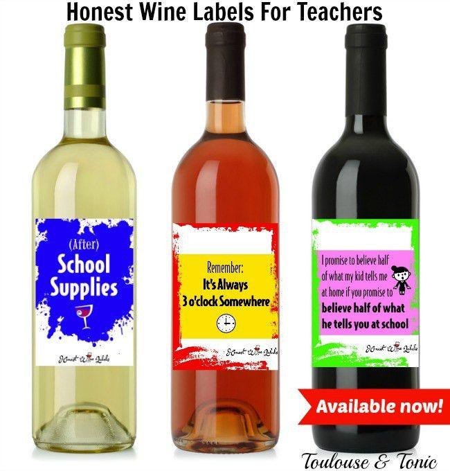 Honest Wine Labels for Teachers