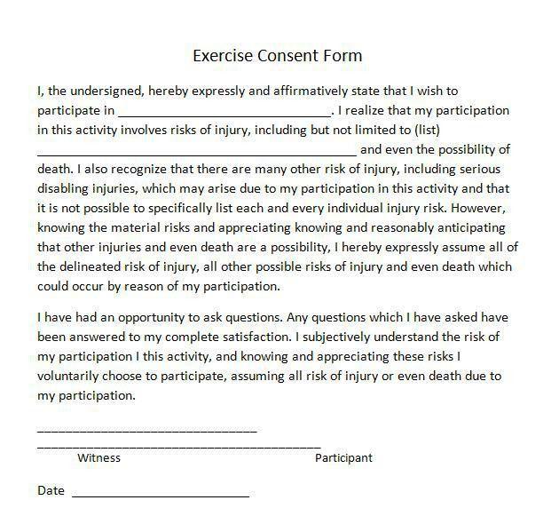 Sample Medical Consent Form. Basic Medical Consent Form Child ...