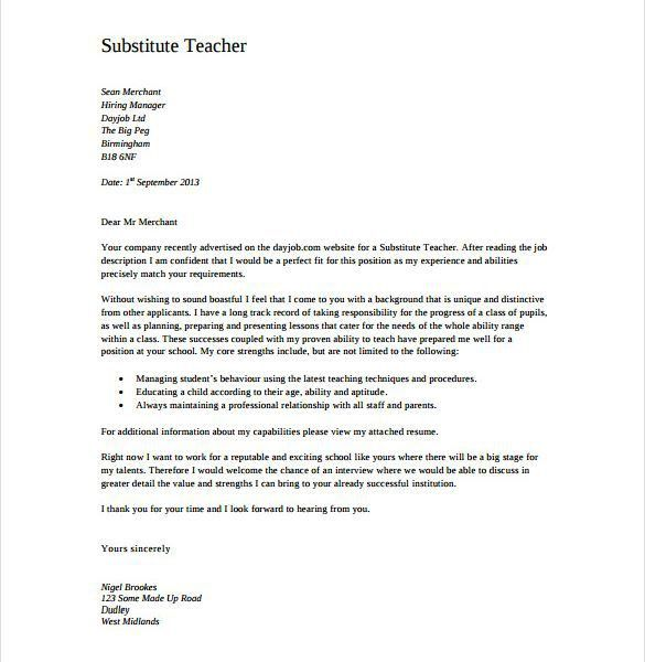 Interesting Teacher Cover Letters 13 11 Letter Templates Free ...