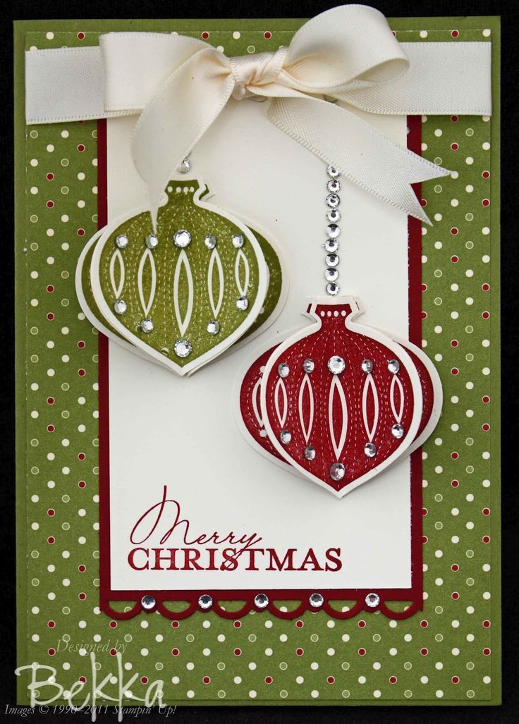 123 best SU - Ornament Punch & Stamp images on Pinterest | Holiday ...