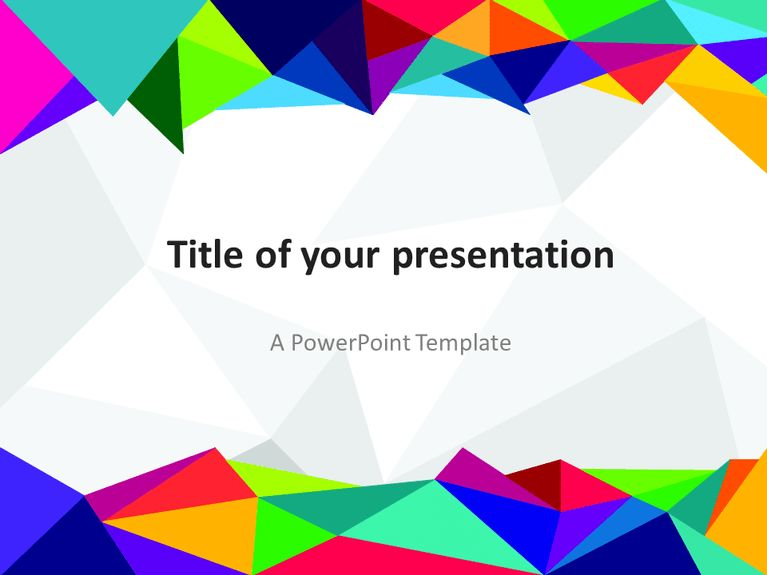 Free Abstract Pixel PowerPoint Template | Abstract PowerPoint ...