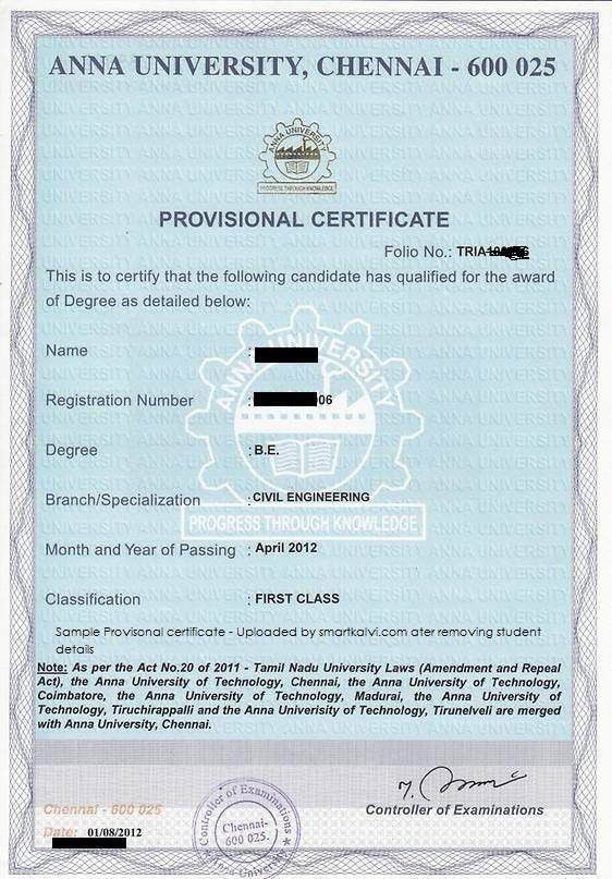 Is Course Completion Certificate and Provisional Degree ...