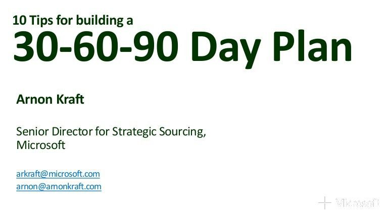 10 tips for building a 30 60-90 plan