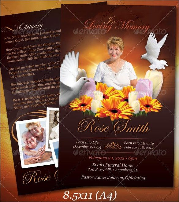 Funeral Obituary Template - 22+ Free Word, Excel, PDF, PSD Format ...