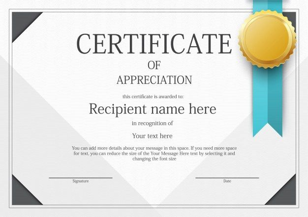 Modern Certificate border template Vector | Free Download