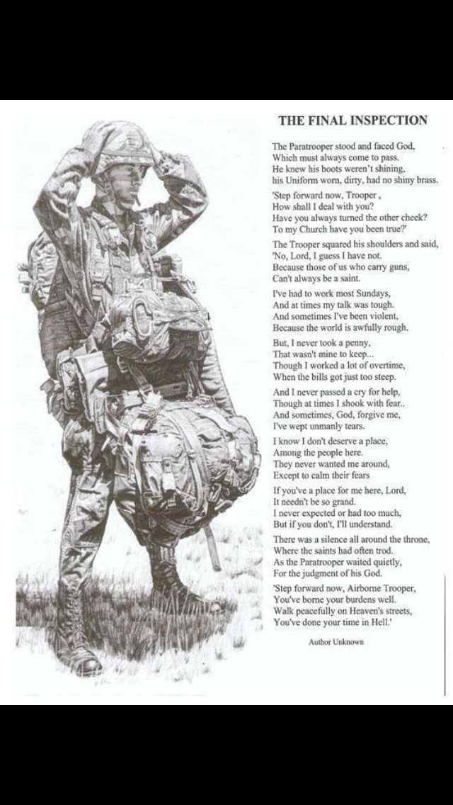The Final Inspection Poem Military