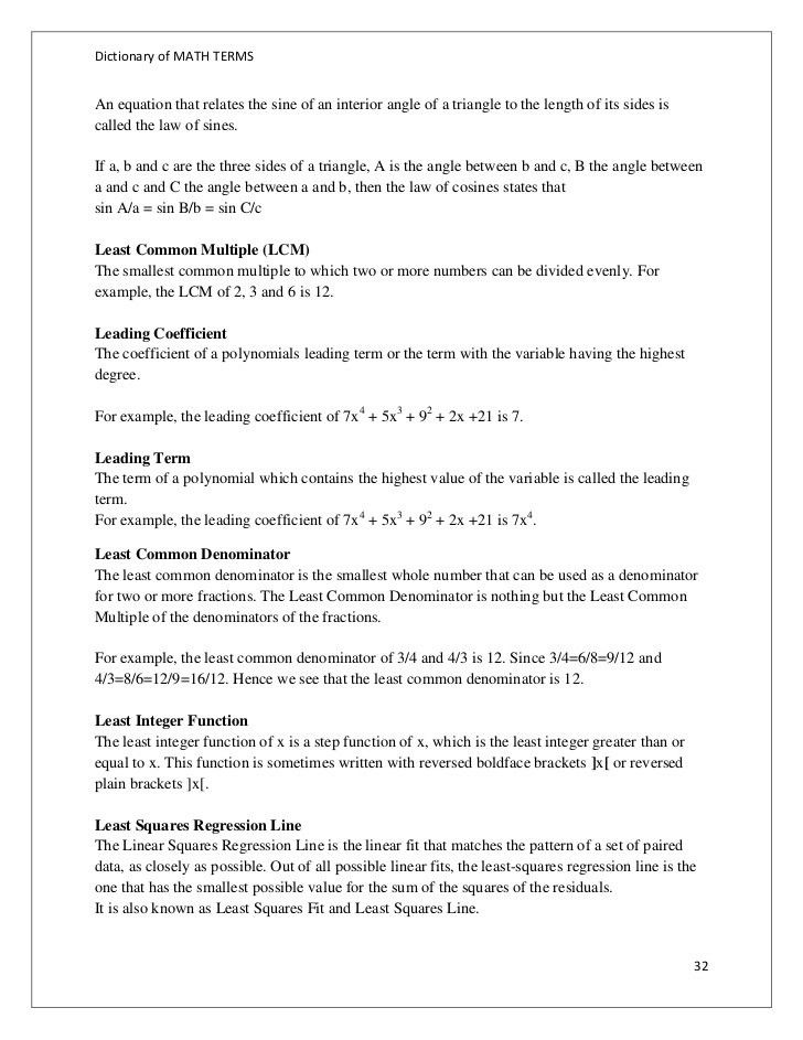 66628563 dictionary-of-math-terms