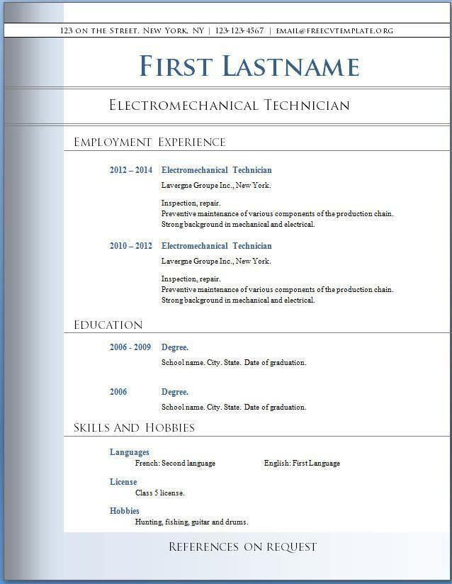resume formats for word resume cv cover letter. resume examples ...