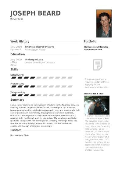 Financial Representative Resume samples - VisualCV resume samples ...