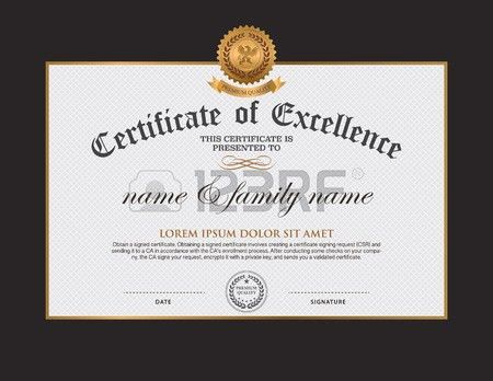 Award Certificate Stock Photos. Royalty Free Award Certificate ...