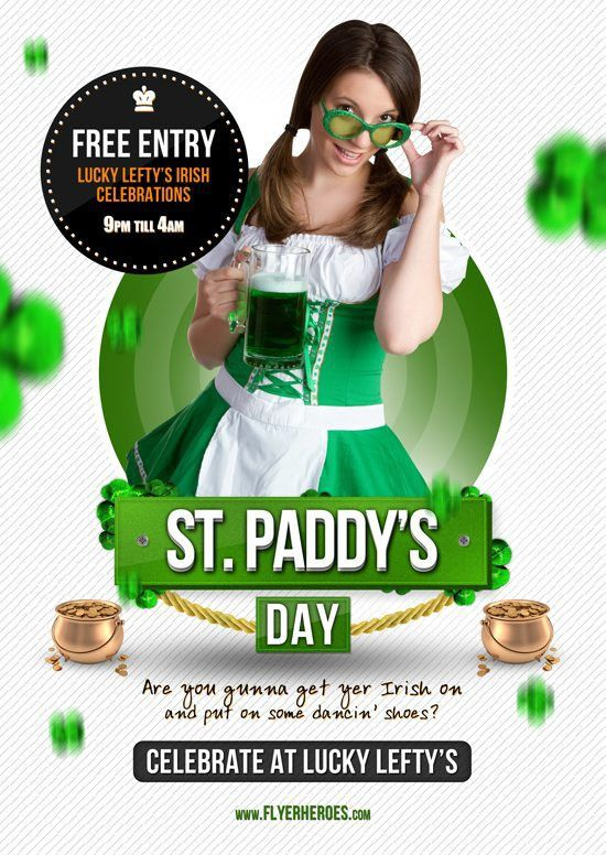 Download Free St. Patricks Flyer PSD Templates for Photoshop