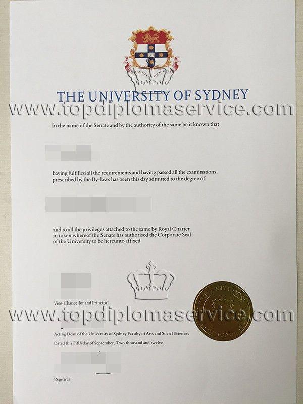 buy The University of Sydney degree cert. buy fake diploma. http ...