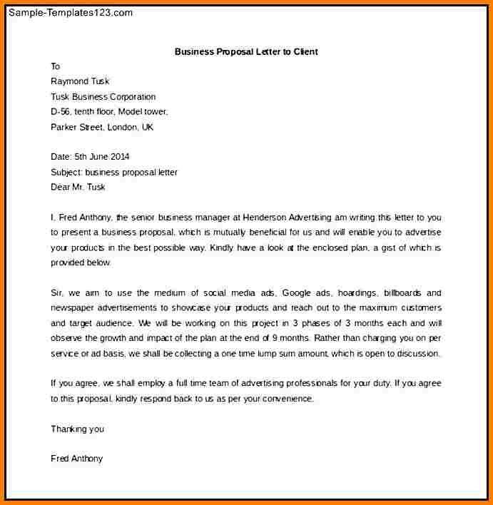 6+ business proposal letter to client | Proposal Template 2017