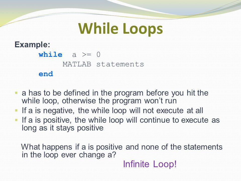 MATLAB® While Loops. - ppt download