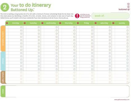 Free printable laundry list of to do's and to do itinerary form ...